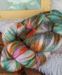alpaca worsted pink green orange
